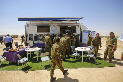 In response to the needs of IDF soldiers performing reserve duty far from home, The Fellowship provided funds for the IDF's first mobile welfare center. Photo courtesy The Fellowship.