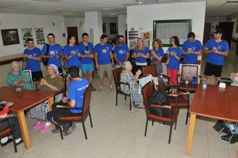 Program participants volunteering at a home for the elderly in Beer Sheva; photo courtesy Naftali Philipson.