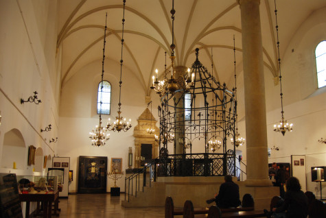 Inside old synagogue in Krakow; photo by Bart Van den Bosch via Wikipedia.