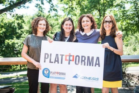 The Platforma Summit team: (l-r) Alexandra Belinski, Lily Lozovsky, Anna Vainer and Victoria Anesh.