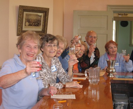 Community members make a toast at the St. Louis NORC; photo courtesy St. Louis NORC.