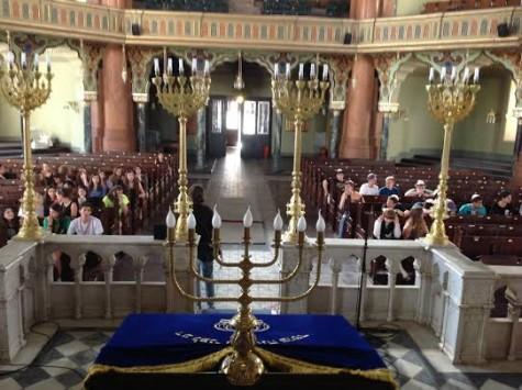 Ambassador participants visiting the synagogue in Sofia; courtesy BBYO.