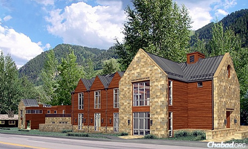 Artist's rendering of the exterior of new Chabad Jewish Community Center Aspen Valley; courtesy Chabad.org.