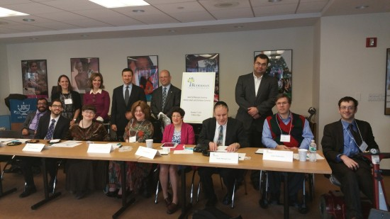 Attendees of the Ruderman Family Foundation's first conference for Jewish disability self-adovcates on Dec. 17 in New York City. Photo courtesy Ruderman Family Foundation.