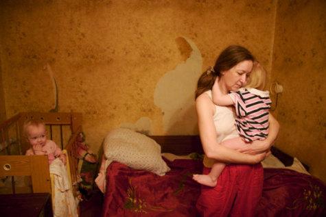 Family in Kiev; photo courtesy JDC