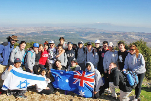 Australian BJE students on their summer program in Israel; photo courtesy Lapid Israel