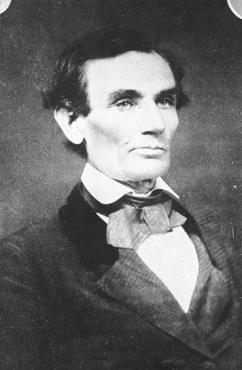 Photograph taken by Jewish photographer-friend of Lincoln, Samuel Alschuler, who lent Lincoln his own velvet-trimmed coat for the occasion. Urbana, Illinois, April 25, 1858, Courtesy of Library of Congress.