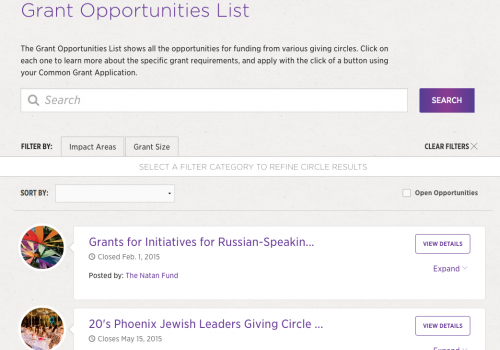 Grant Opportunities List