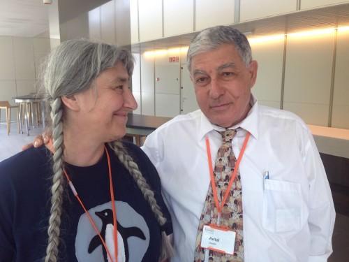 Ana Libl, President of the Jewish Community of Croatia and Avital Livneh, Headmaster of Tikva School, Barcelona.