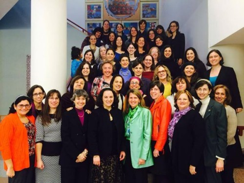 Female members of the Rabbinical Assembly of Conservative Judaism, who gather at JTS (December 2012). Photo courtesy.