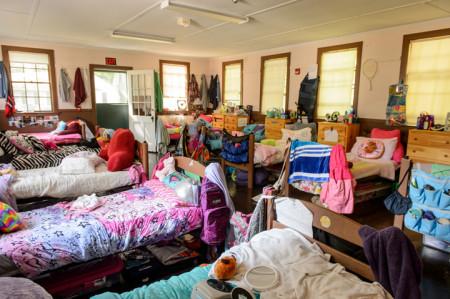 girls bunk at camp
