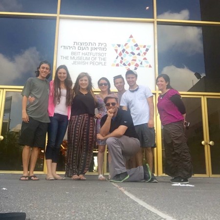 Project Beyond participants learn about loving your fellow as yourself and Jewish Peoplehood at Beit Hafutsot.
