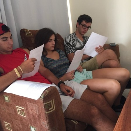 Project Beyond participants from University of Miami's Hillel Birthright trip evaluate grant applications during their Amplifier Giving Circle Express session.
