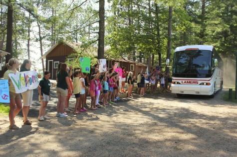 campers arriving