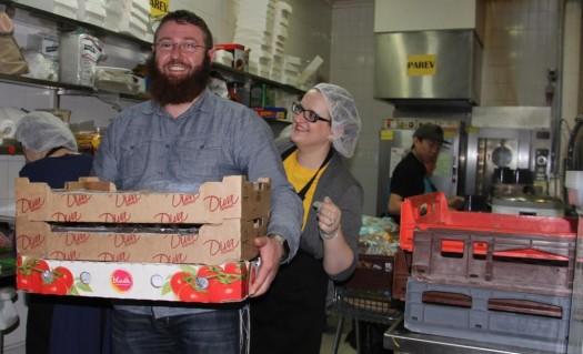 Subbotnik's Co-Founder Avi Bendetsky delivering delicacies to F.R.E.E. / Chabad of Bondi where we held Subbotnik; photo courtesy.