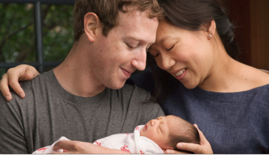 Facebook's Mark Zuckerberg and and his wife Priscilla welcoming daughter Max. Photo Credit: Screenshot.