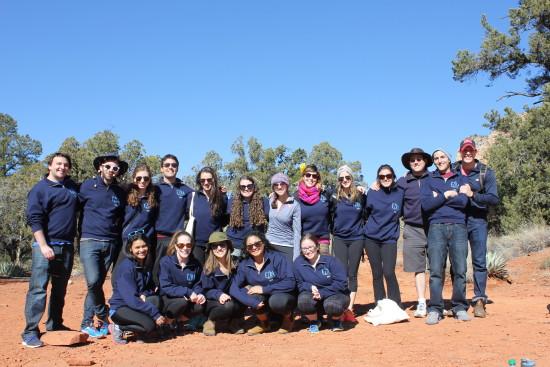 2016 Ezra Fellows at an Experiential Jewish Education Training Retreat in Sedona, Arizona.