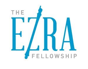 Ezra logo blue