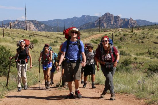Jewish Outdoor Leadership Institute participants at Ramah in the Rockies; courtesy.