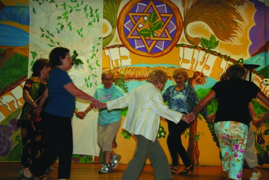 Dancing at the Isabella Freedman Jewish Retreat Center's summer camp for seniors. Photo courtesy Isabella Freedman Jewish Retreat Center.