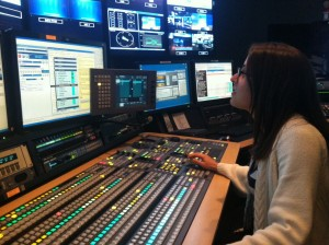 Jill working as Technical Director at NY1 News (2015).