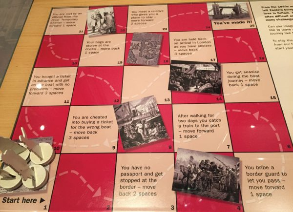 Board game at The Jewish Museum London; photo by Sion.
